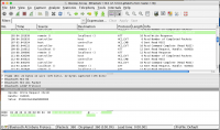 Wireshark window showing our sniffed data
